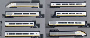 Kato 10-1295 Eurostar Class 373 005/006 8 Car Powered Set Classic Livery
